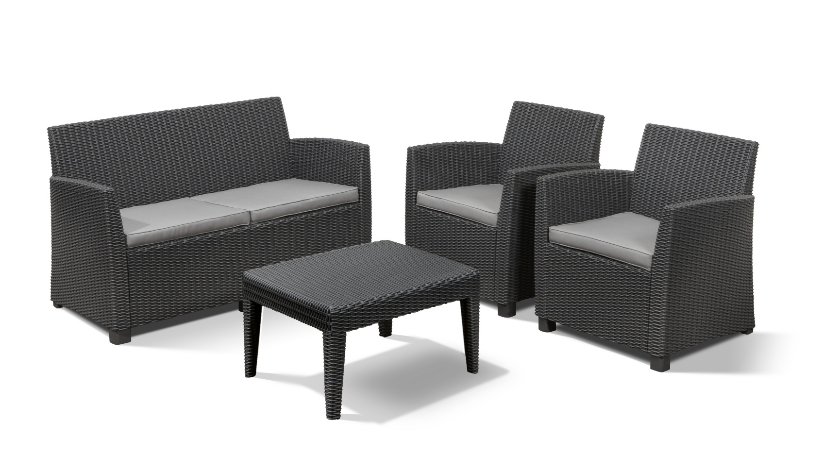 Allibert Corona Lounge Set Graphite - Allibert pour Salon De Jardin Corona
