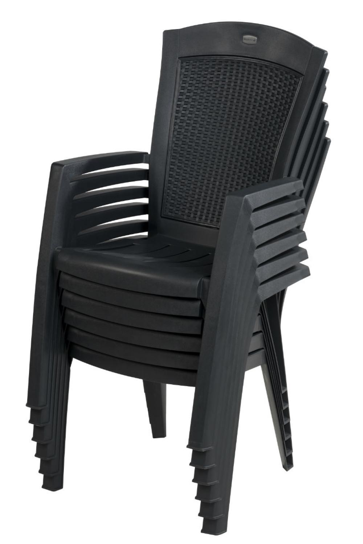 Allibert Minnesota Chaise Empilable Graphite - Allibert encequiconcerne Chaise Jardin Allibert