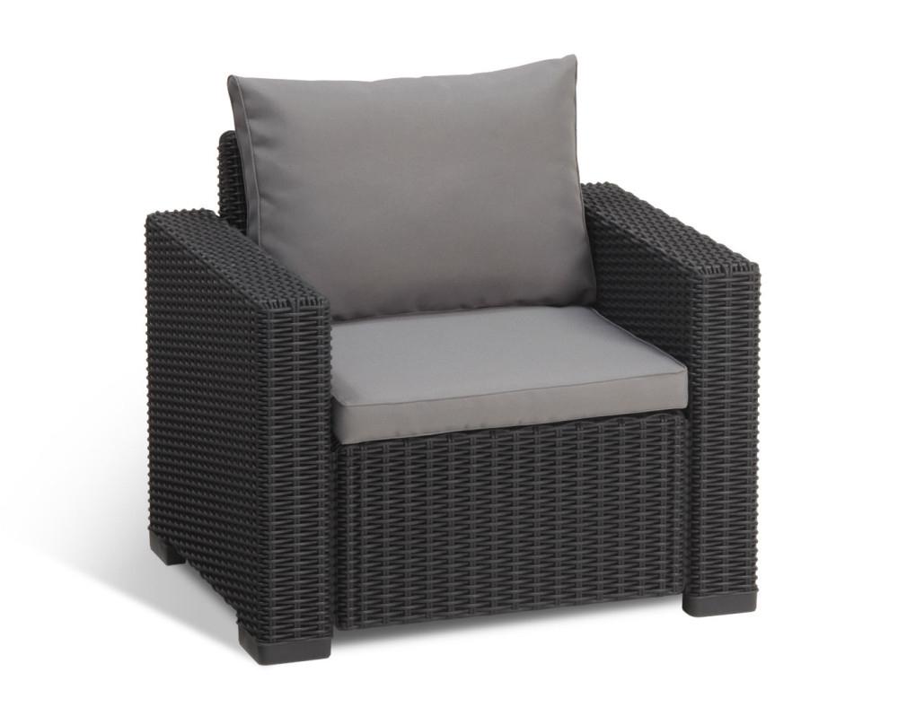 Allibert Moorea Lounge Set Graphite - Allibert dedans Salon De Jardin Allibert California