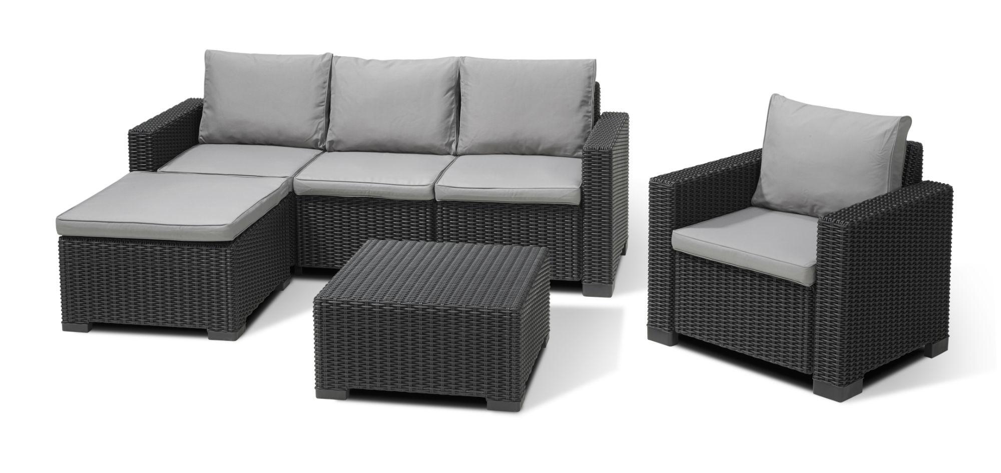 Allibert Moorea Lounge Set Graphite - Allibert pour Salon De Jardin Allibert California