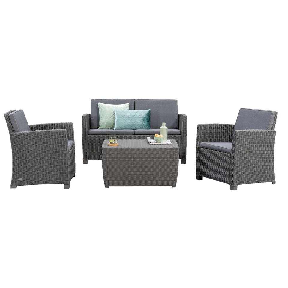 Allibert Salon Lounge Corona - Gris - 4 Pièces encequiconcerne Salon De Jardin Corona