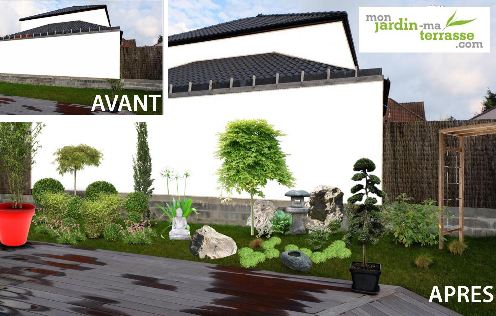 Amã©Nager Un Jardin Rectangulaire Aménager Un Jardin ... serapportantà Jardin Japonais Sur Terrasse