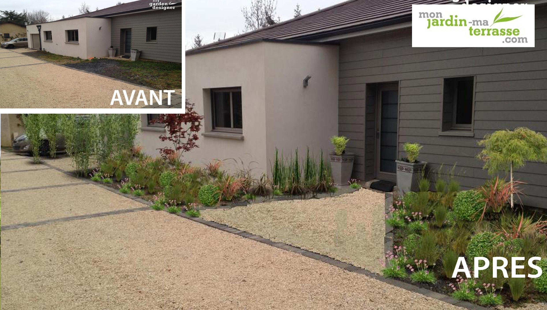 Amenagement Entree Exterieur Maison Aménagement Du Jardin De ... serapportantà Aménagement Entrée Jardin