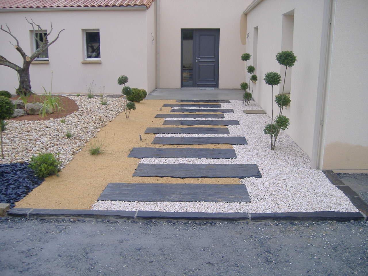 Amenagement Entree Exterieur Maison Célèbre Aménagement ... destiné Aménagement Entrée Jardin