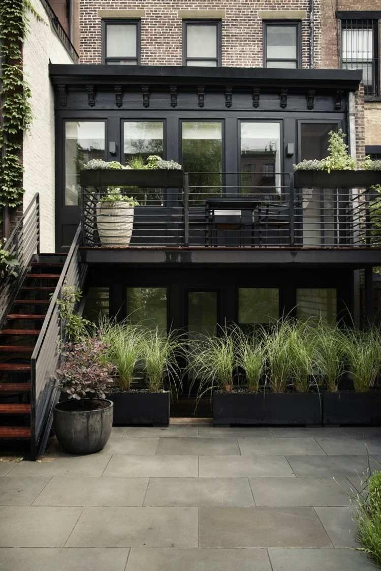 Aménagement Jardin Et Terrasse En Ville D'une Maison À ... à Terrase De Jardin