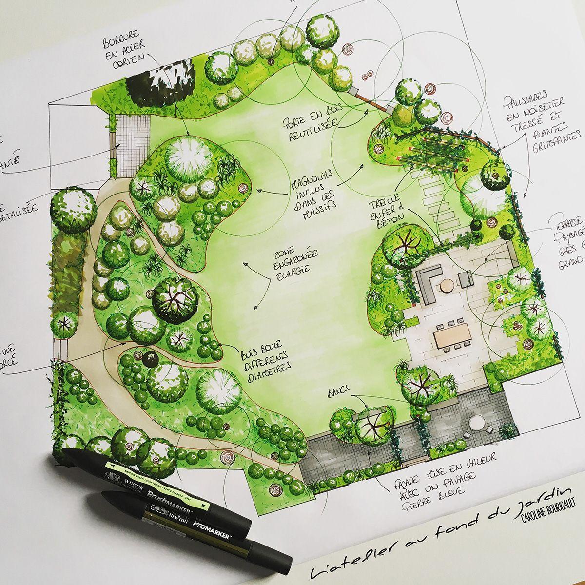 Aménagement Paysager D'une Terrasse - #amenagement #paysager ... tout Am2Nagement Jardin