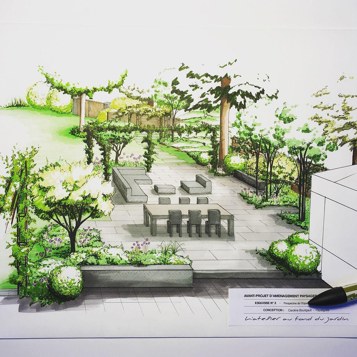 Aménagement Paysager D'une Terrasse De Style Contemporain ... avec Créer Son Jardin En 3D