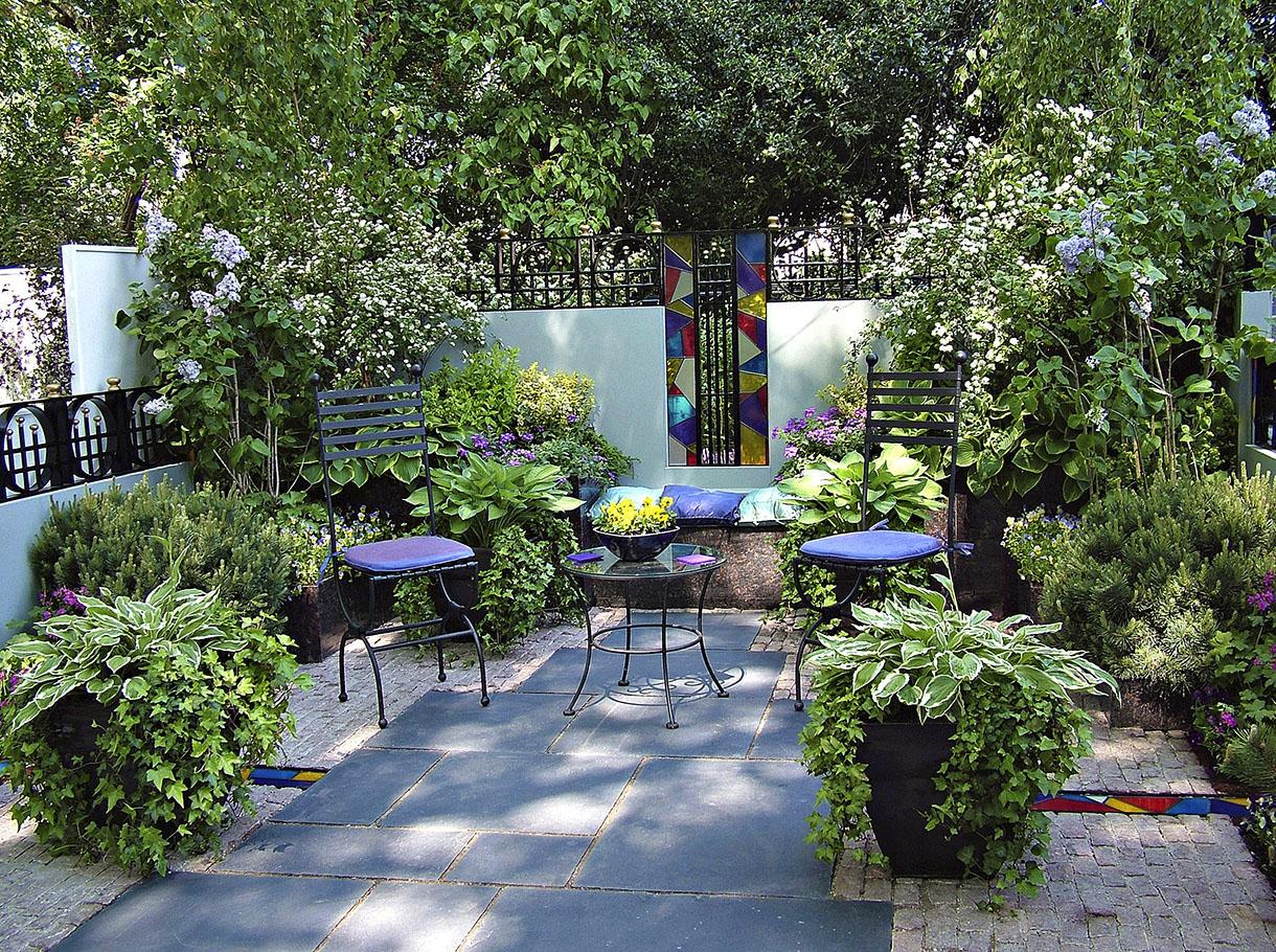 Amenagement Petit Jardin, Aménager Un Petit Jardin | Détente ... intérieur Exemple De Jardin Méditerranéen