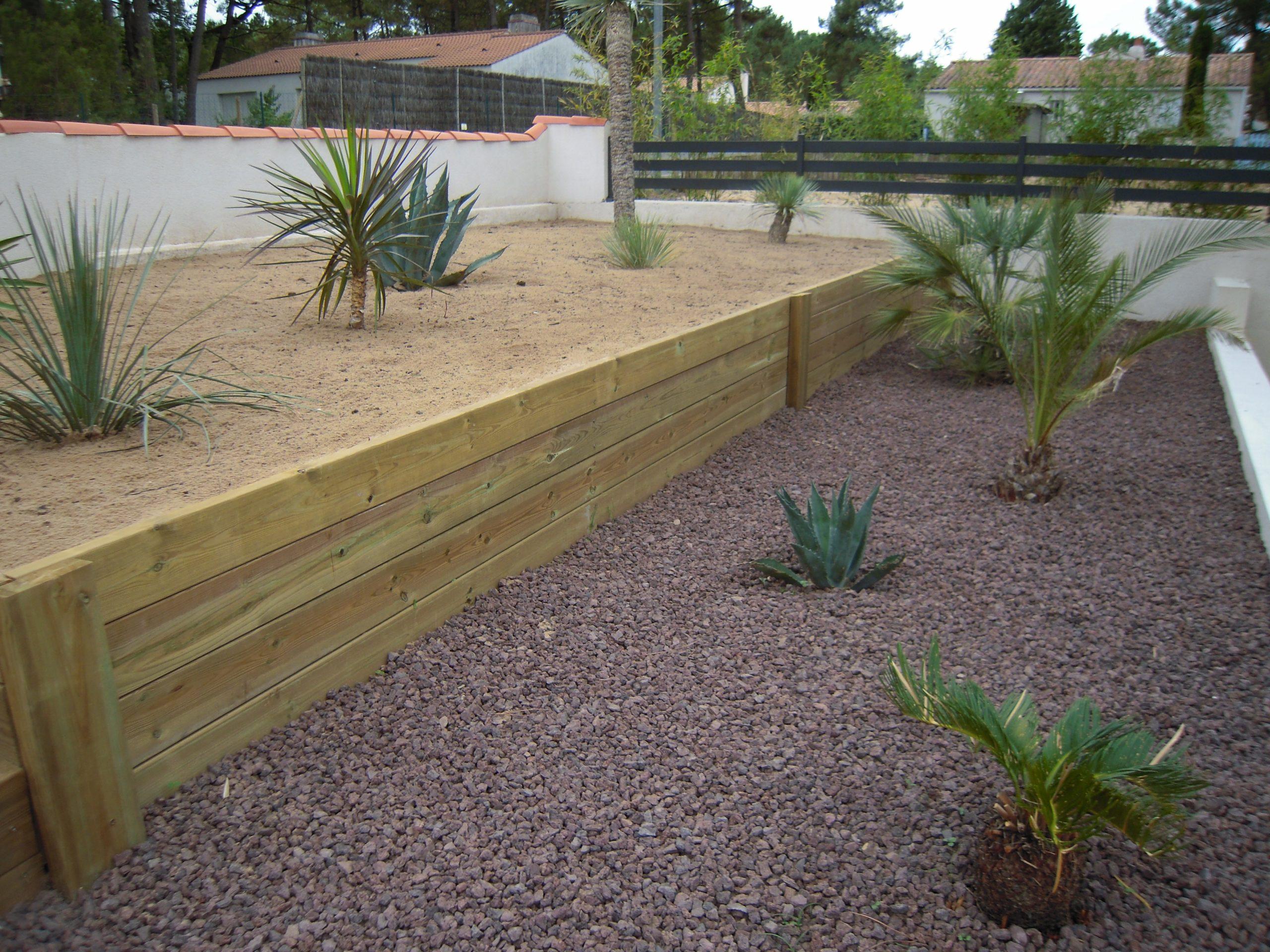 Aménagements Divers - Lerouvillois S. Aménagement De Jardins destiné Bordures Bois Jardin