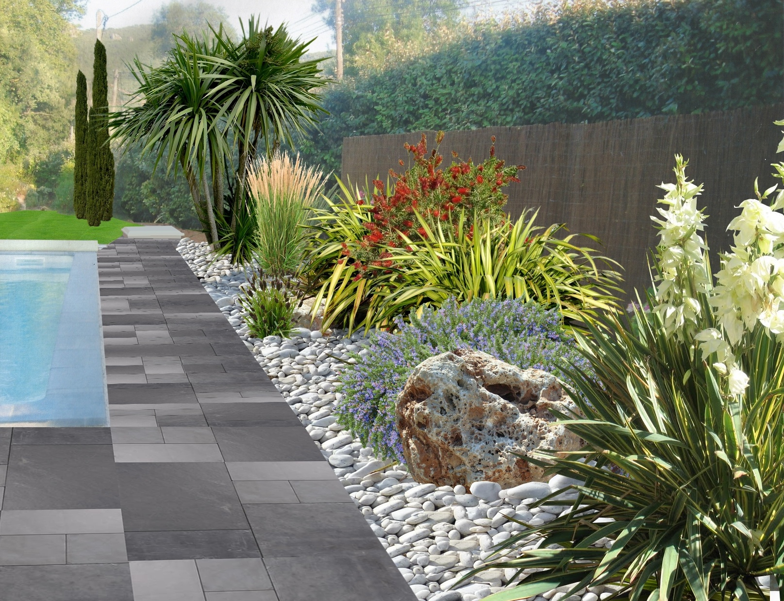 Aménager Un Jardin De Galets concernant Jardin Avec Galets Blancs