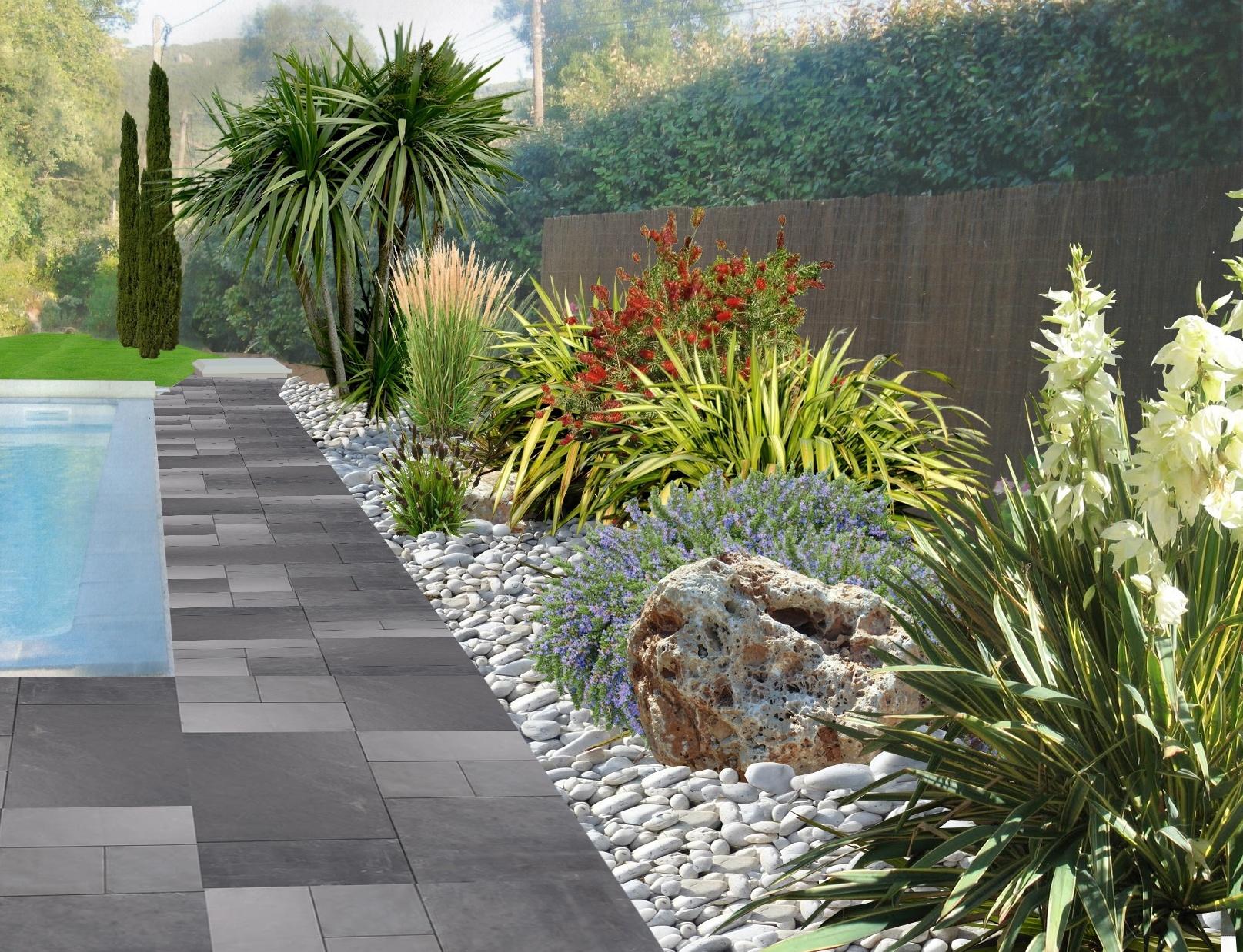 Aménager Un Jardin De Galets destiné Modeles Jardins Avec Galets