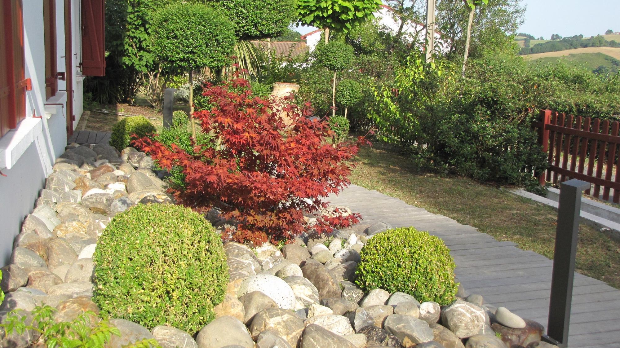 Aménager Un Jardin De Galets tout Exemple D Aménagement De Jardin