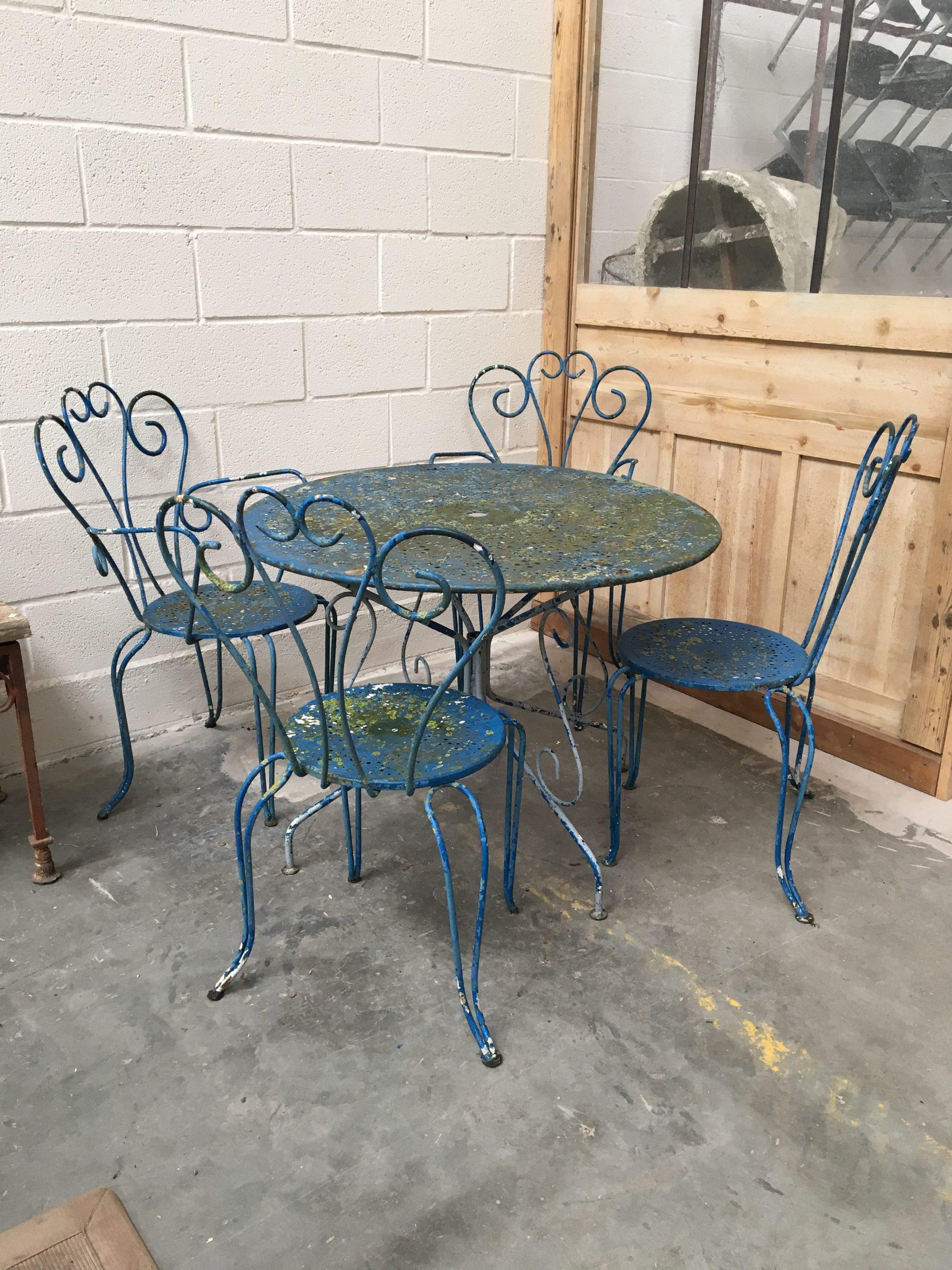 Ancien Salon De Jardin En Fer Forgé Année 60 - Nord Factory serapportantà Salon De Jardin En Fer Coloré