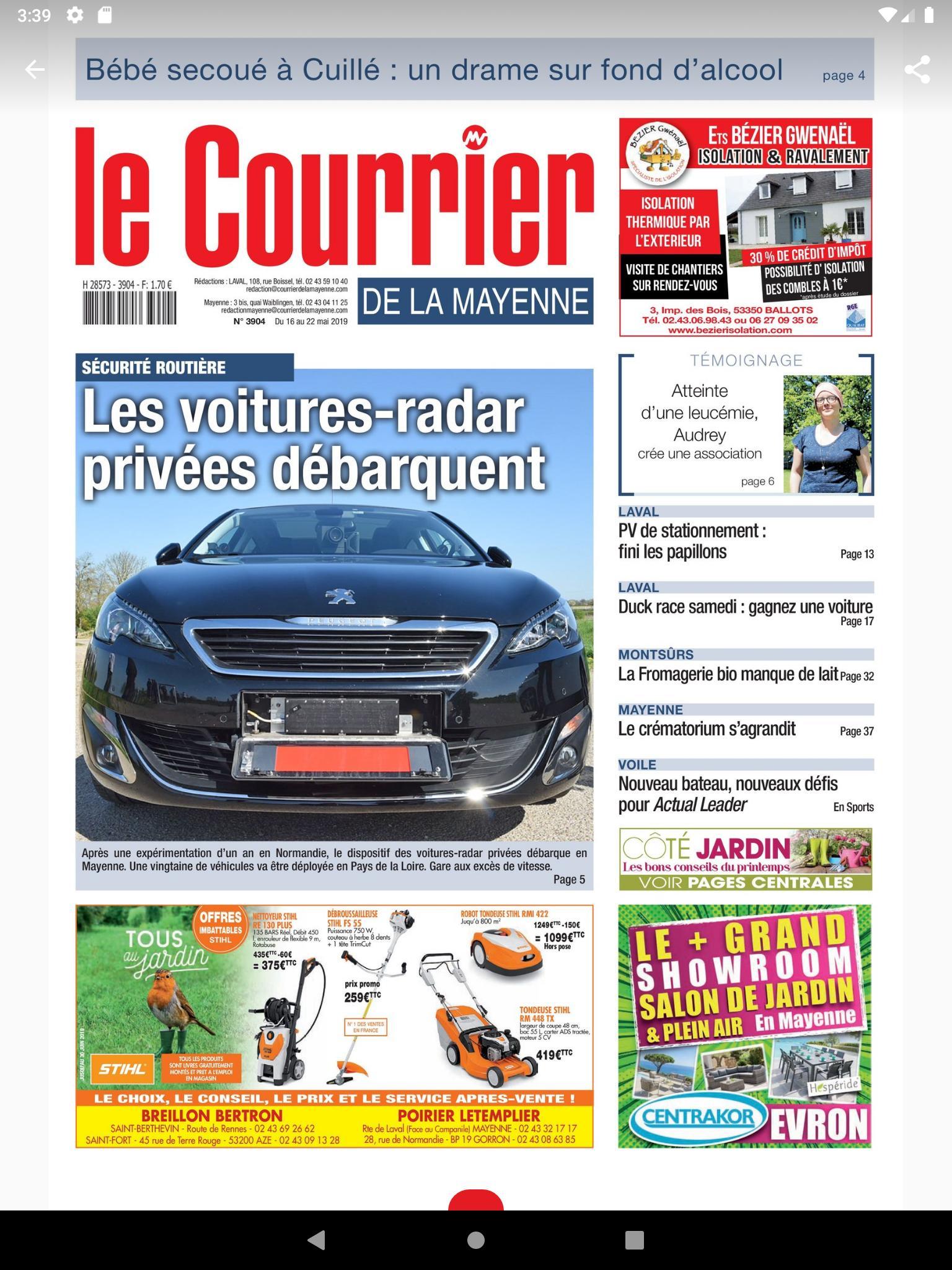 Android Için Le Courrier - Apk'yı İndir destiné Centrakor Salon De Jardin