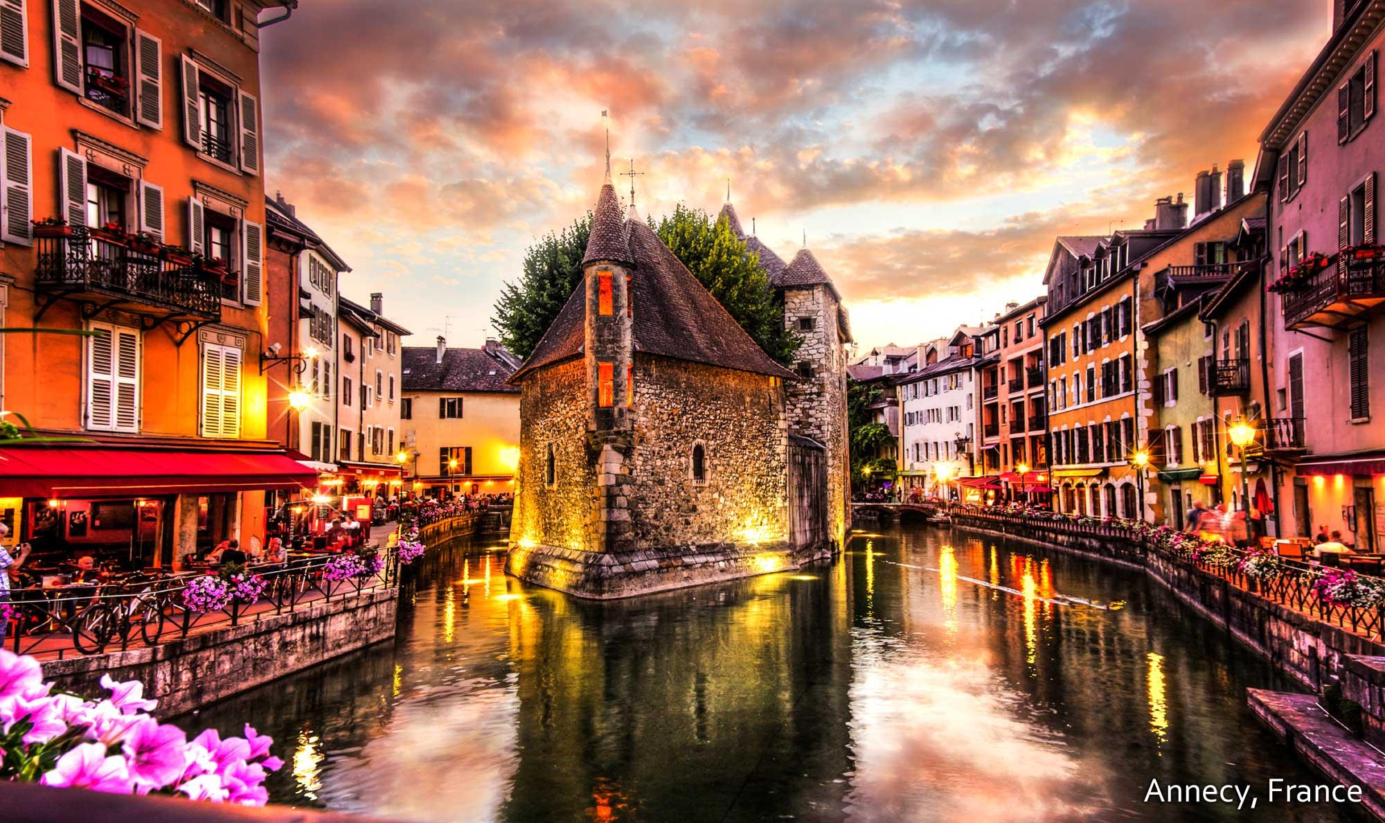 Annecy, France Dubbed The 'venice Of The Alps' This Romantic ... encequiconcerne Les Jardins Du Château Annecy
