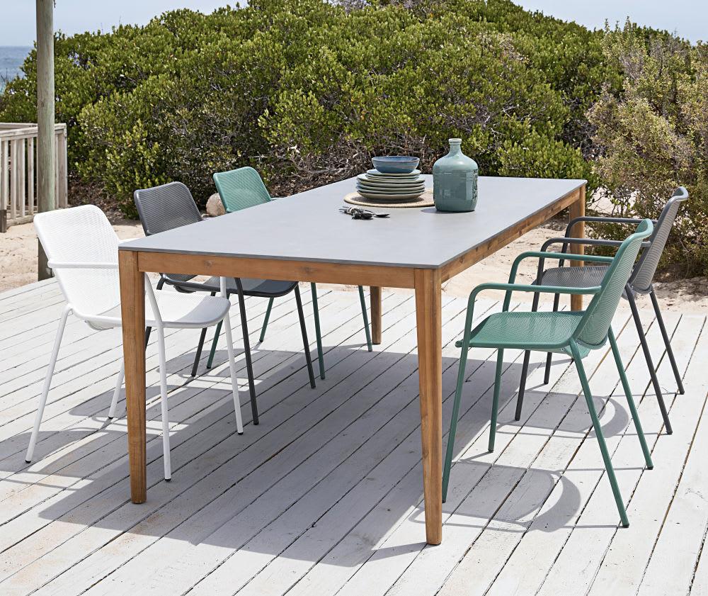 Anthracite Grey Metal Garden Armchair intérieur Table De Jardin Maison Du Monde