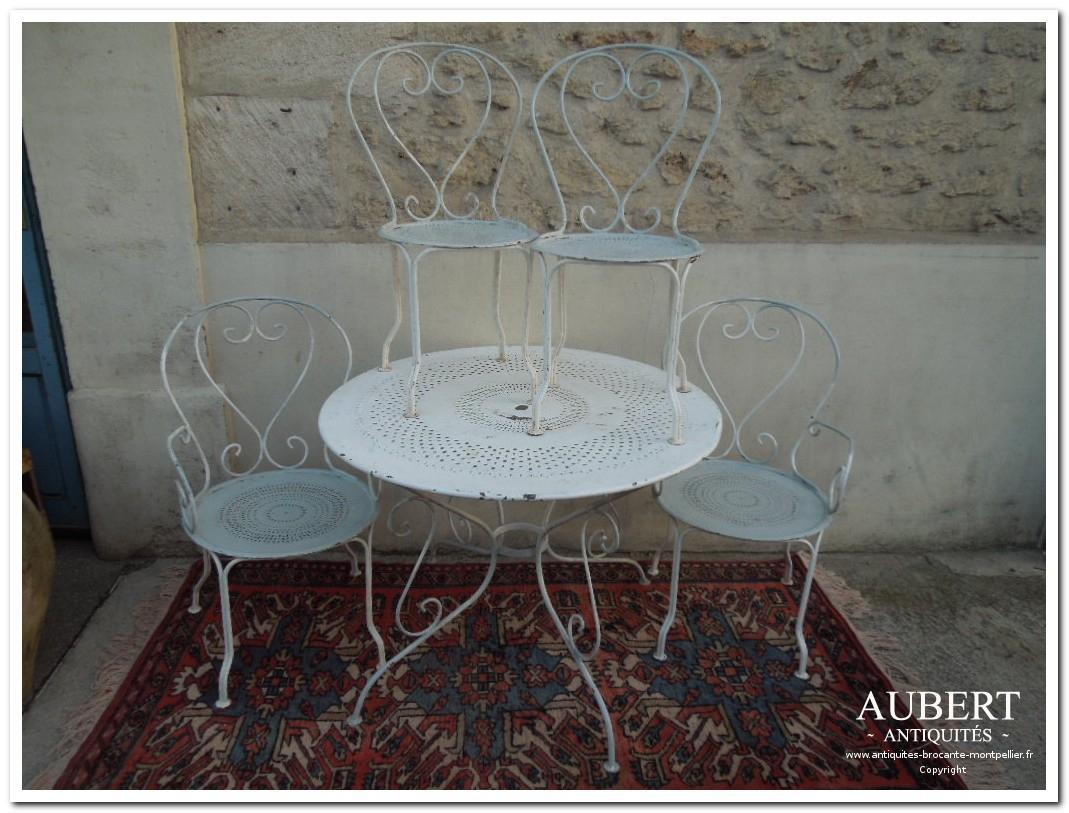Antiquités Brocante Aubert | Brocanteur Montpellier ... encequiconcerne Salon De Jardin En Fonte Ancien