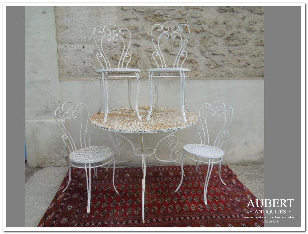 Antiquités Brocante Aubert | Brocanteur Montpellier ... serapportantà Salon De Jardin En Fonte Ancien