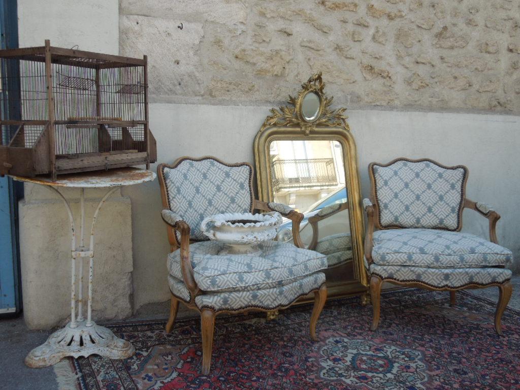 Antiquités Brocante Aubert | Brocanteur Montpellier ... tout Salon De Jardin En Fonte Ancien