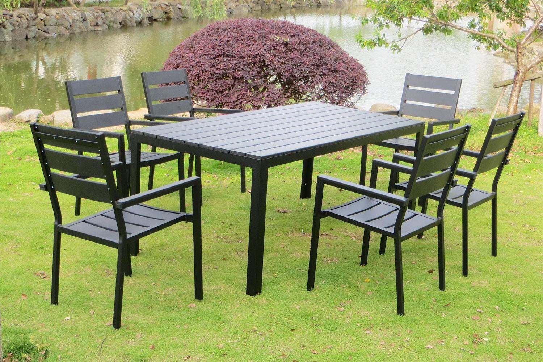 Anzio 6 tout Ensemble Table Et Chaise De Jardin En Resine Pas Cher