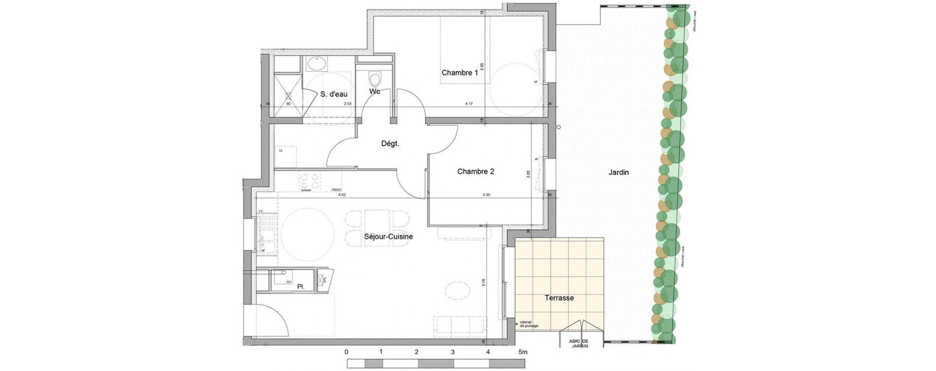 Appartement T3 De 60.73M2 Rdc E Le Domaine St-Vincent Mûrs ... intérieur Plan Cabane De Jardin