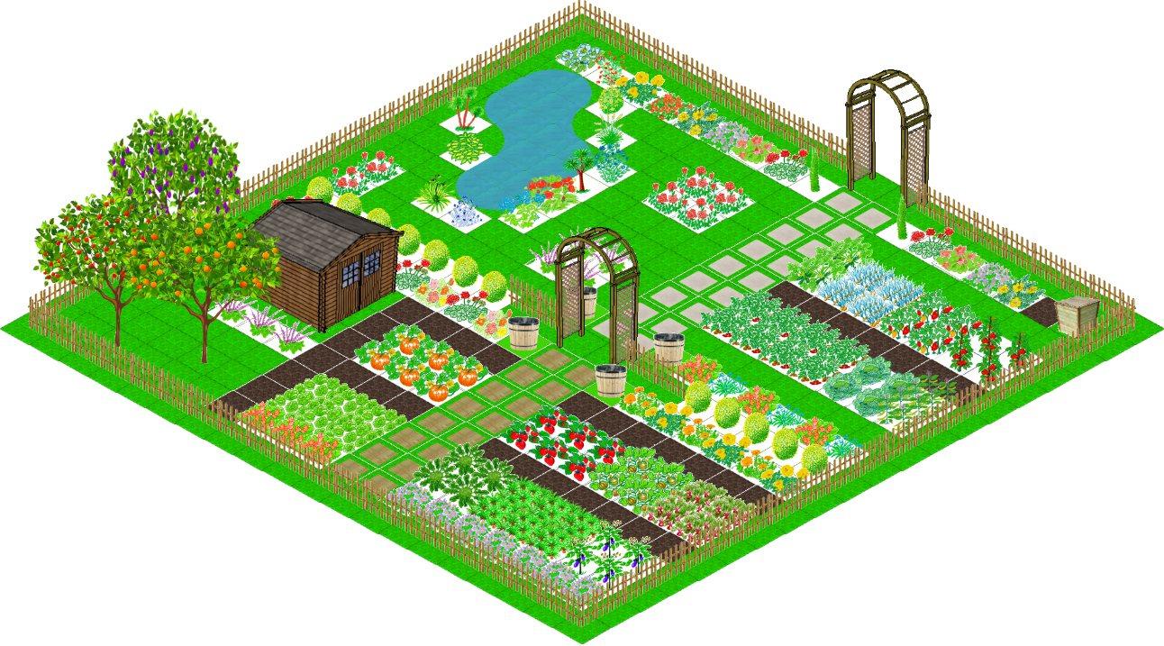 Application Gratuite De Dessin Du Plan De Votre Jardin Potager. tout Créer Son Jardin En 3D