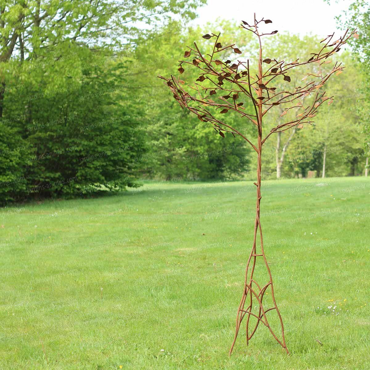 Arbre Cerisier Du Japon, Sculpture En Acier   Metals   Metal ... à Jardins Animés Sculpture