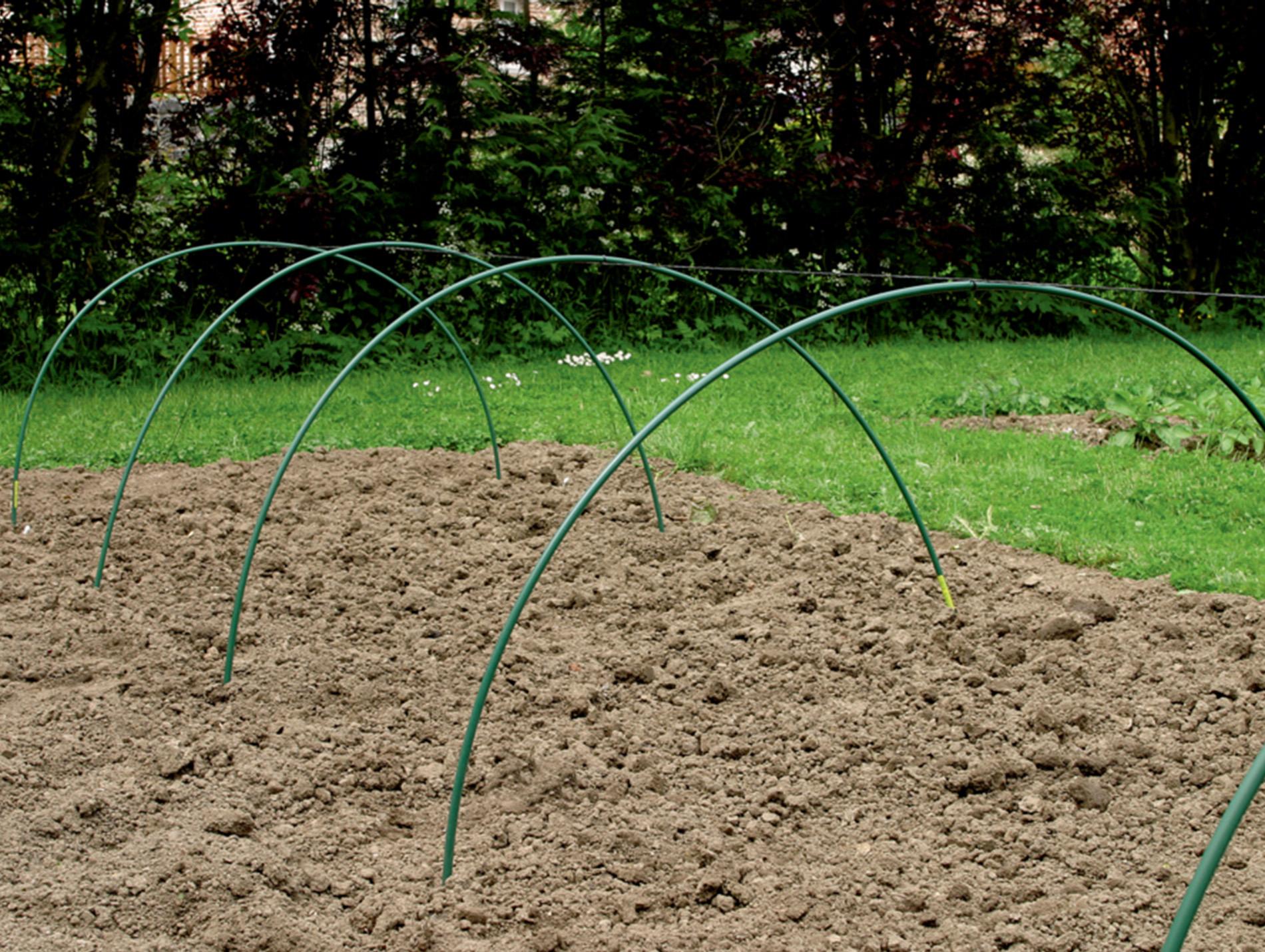 Arceau Pvc Vert 2,50M - Serre De Jardin, Abris De Culture ... pour Arceau Jardin