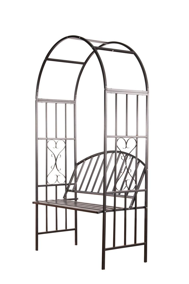 Arche À Rosiers Avec Banc Confort - Arceaux À Rosiers Avec ... concernant Arceaux Jardin