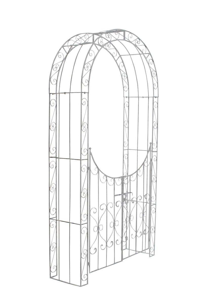 Arche À Rosiers Sina Avec Porte - Arches À Rosiers - Balcon ... concernant Arche De Jardin Avec Portillon