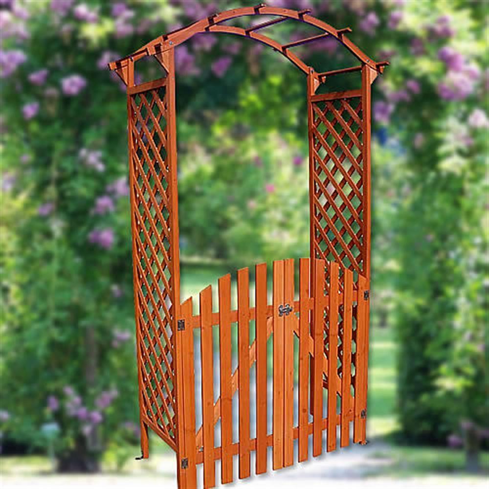 Arche De Jardin À Rosiers Avec Porte à Arche Jardin Bois