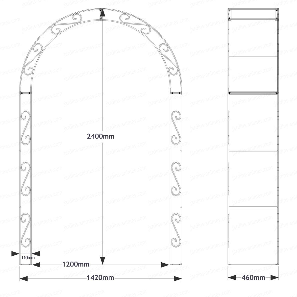 Arche De Jardin Arrondie En Acier Plein à Arche De Jardin En Fer Forgé