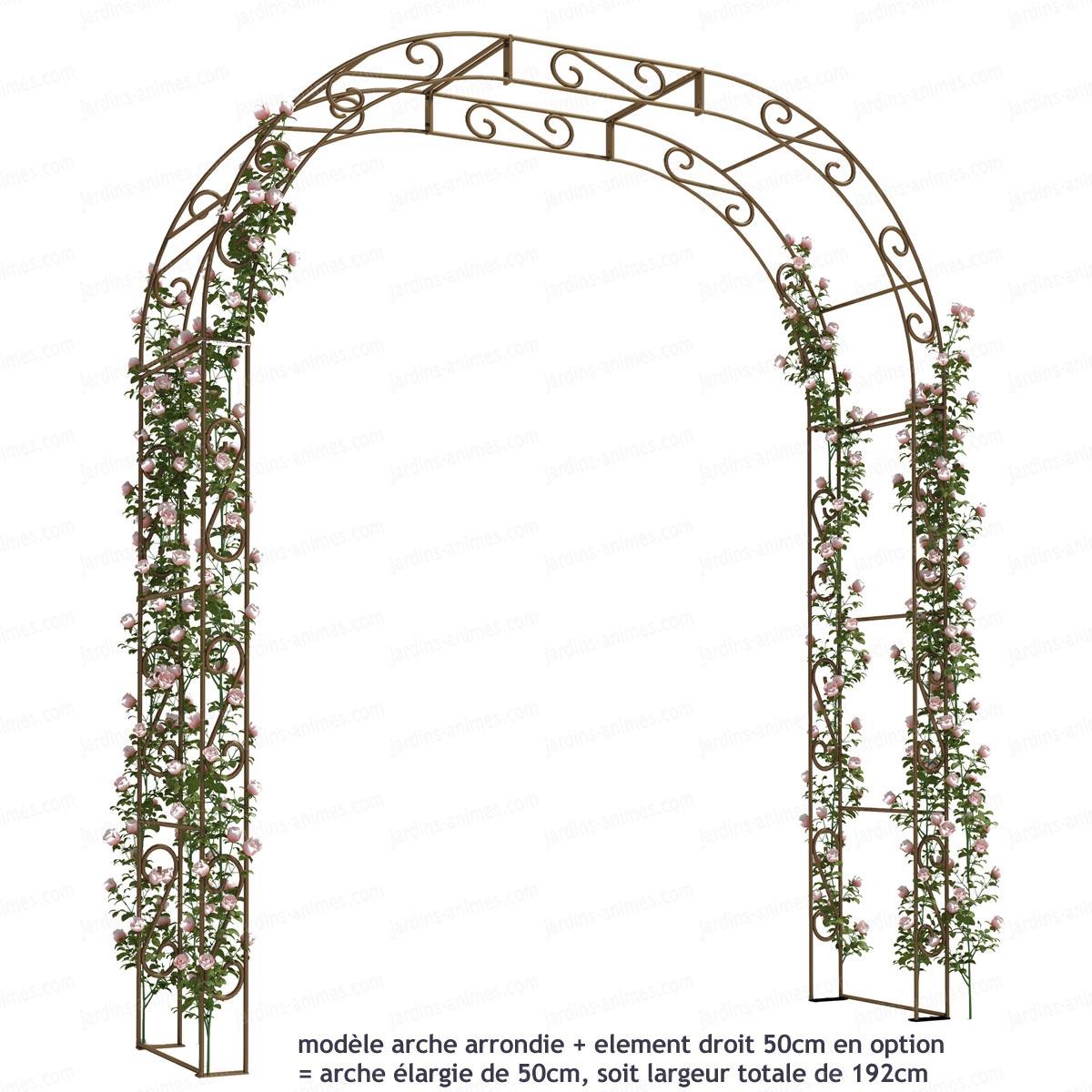 Arche De Jardin Arrondie En Acier Plein serapportantà Arche En Fer Forgé Pour Jardin