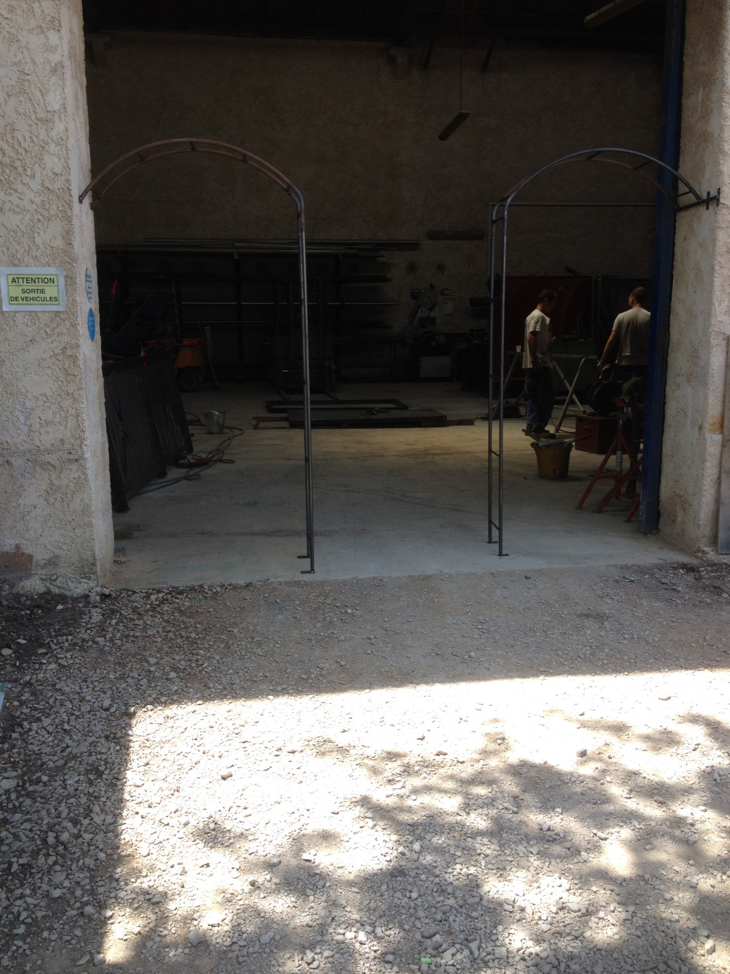 Arche De Jardin En Fer Forge A Martigues Fabrique Sur Mesure ... serapportantà Arche De Jardin En Fer Forgé