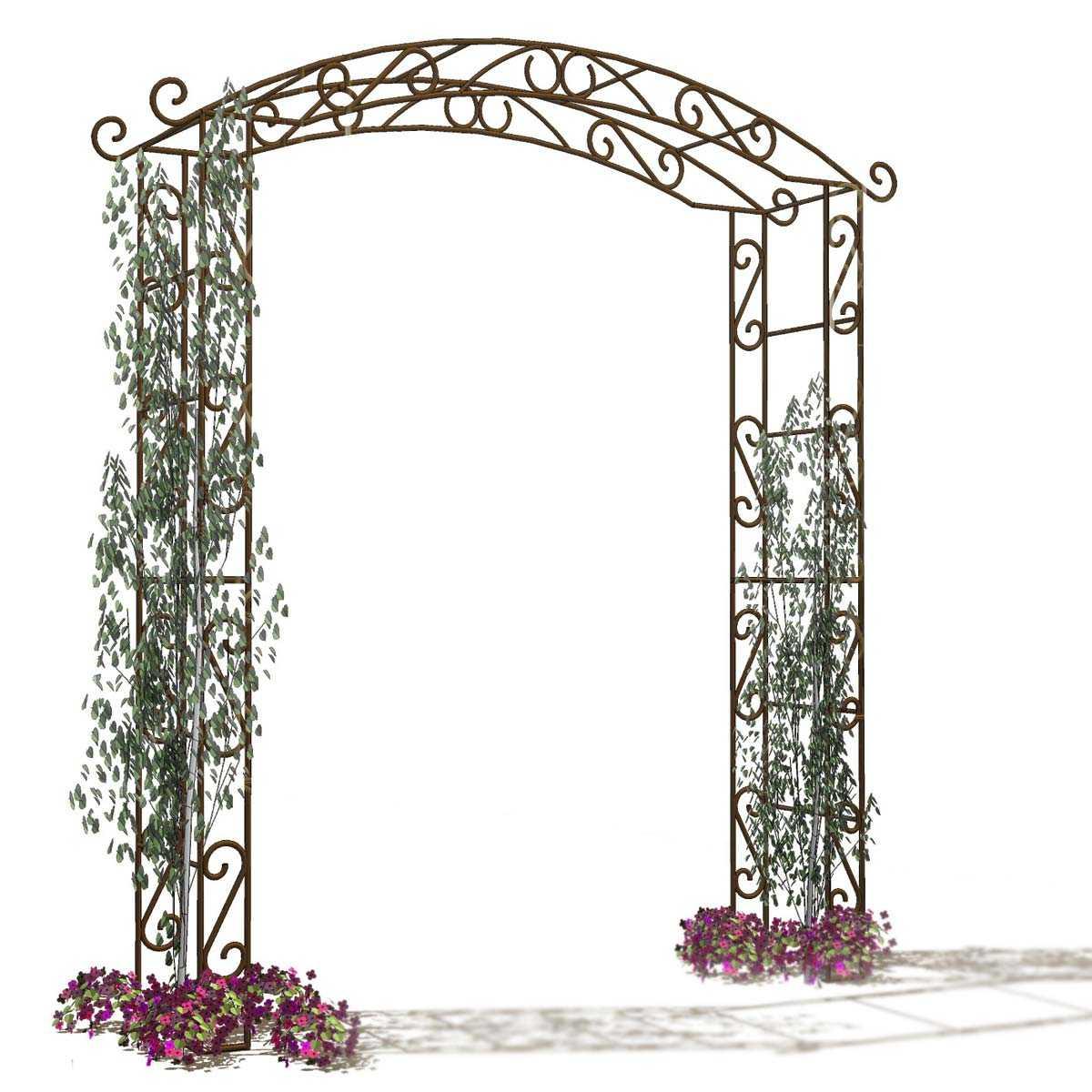 Arche De Jardin En Fer Pagode destiné Arceau De Jardin