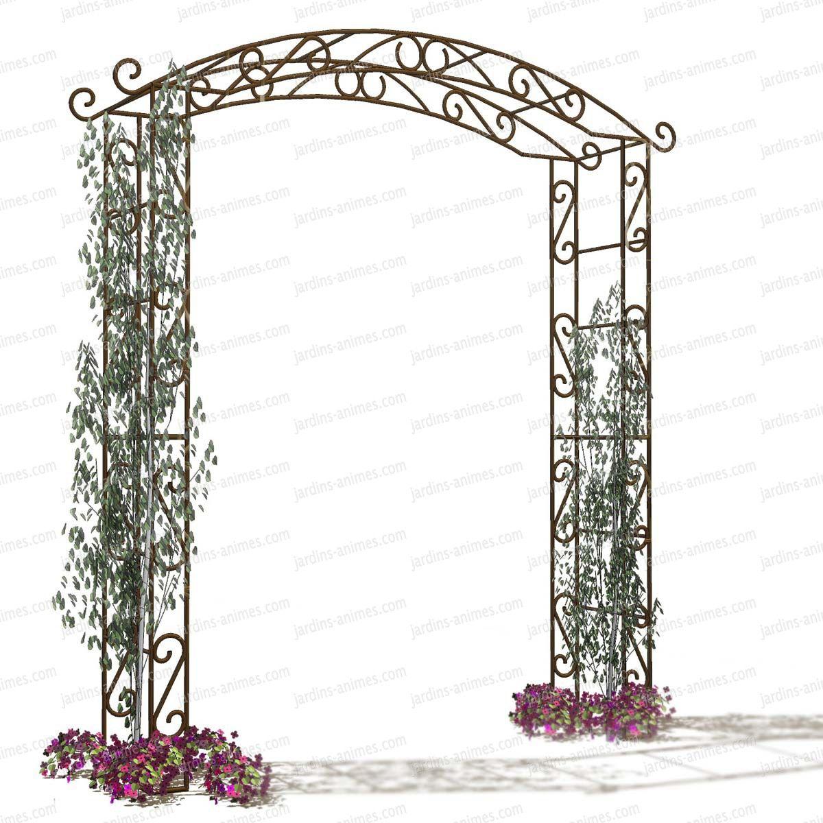 Arche De Jardin En Fer Pagode | Jardin | Arche Jardin ... tout Kiosque De Jardin En Fer Forgé