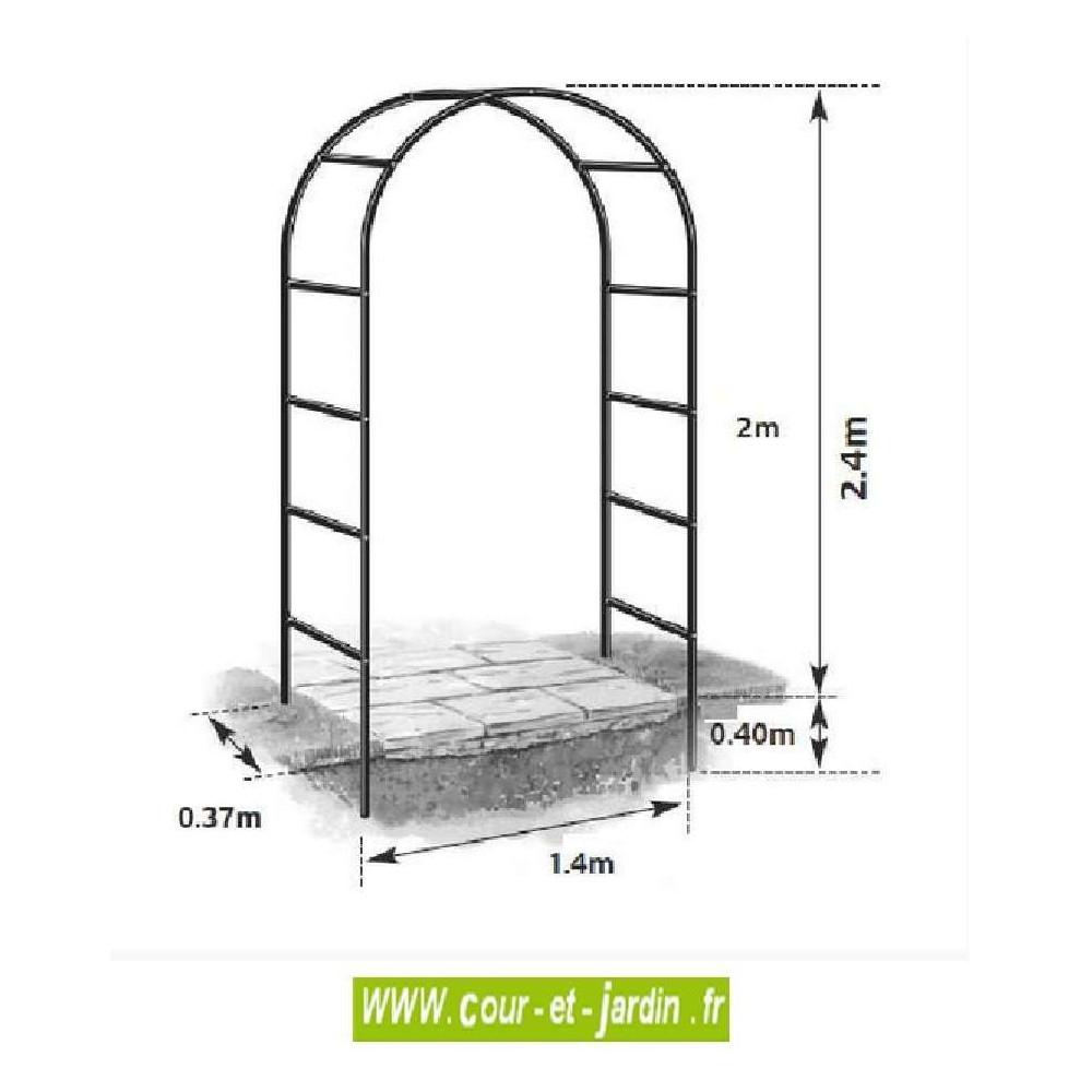 Arche De Jardin, En Métal Easy Arch - Pergola De Jardin ... intérieur Arche De Jardin En Fer Forgé