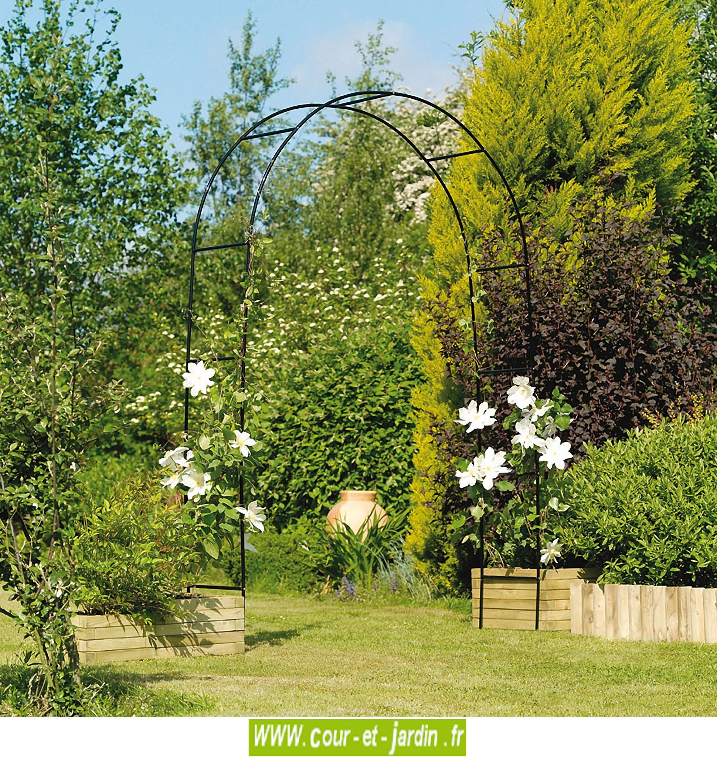 Arche De Jardin, En Métal Easy Arch - Pergola De Jardin ... serapportantà Arceaux Jardin