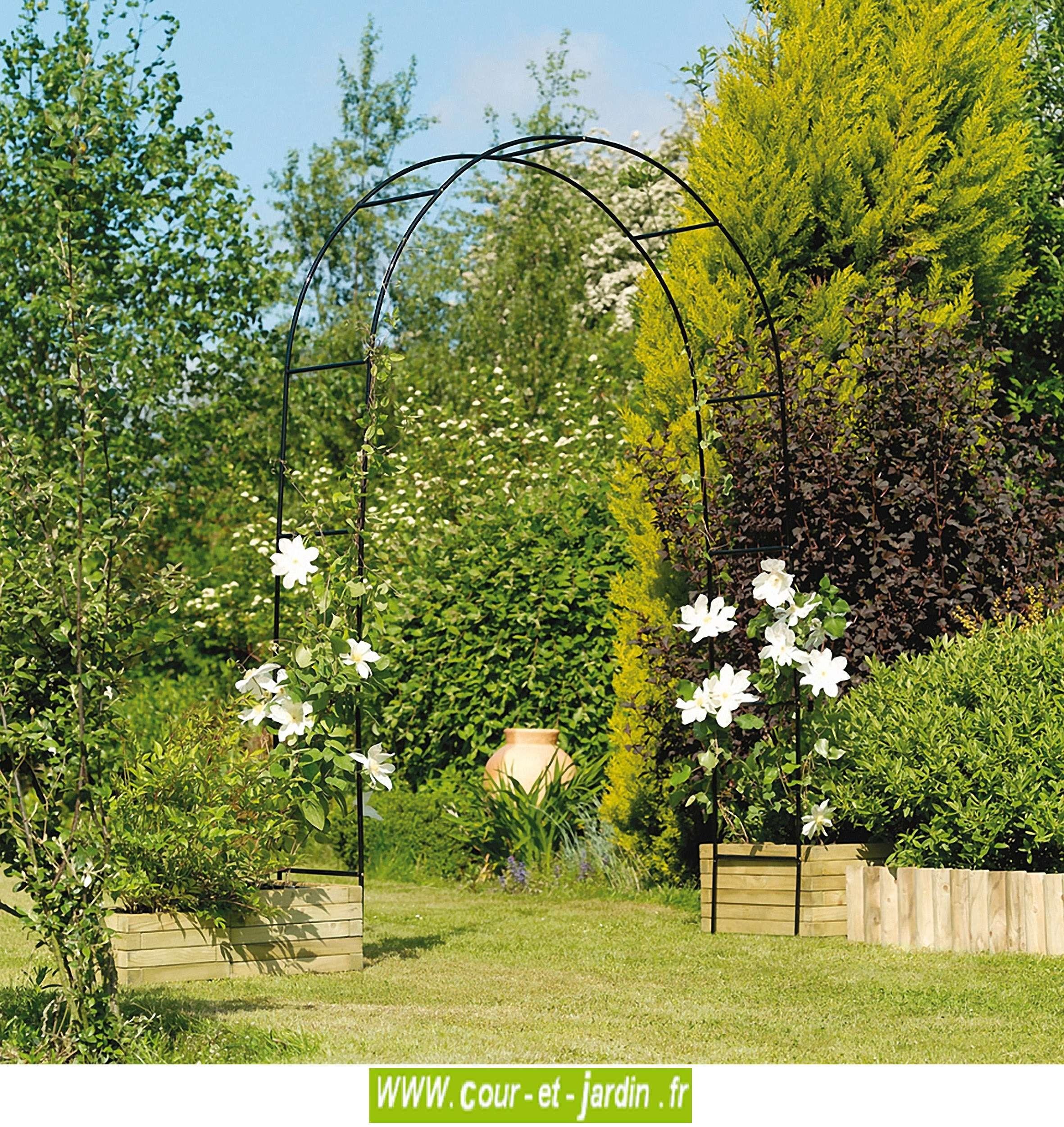 Arche De Jardin, En Métal Easy Arch - Pergola De Jardin ... serapportantà Arche En Fer Forgé Pour Jardin