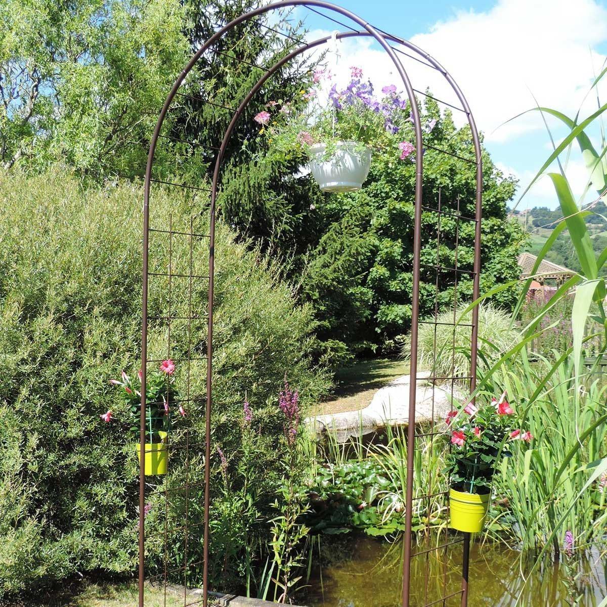 Arche De Jardin Treillage En Fer Petit Modèle + 4 Supports À ... dedans Arche De Jardin Pas Cher