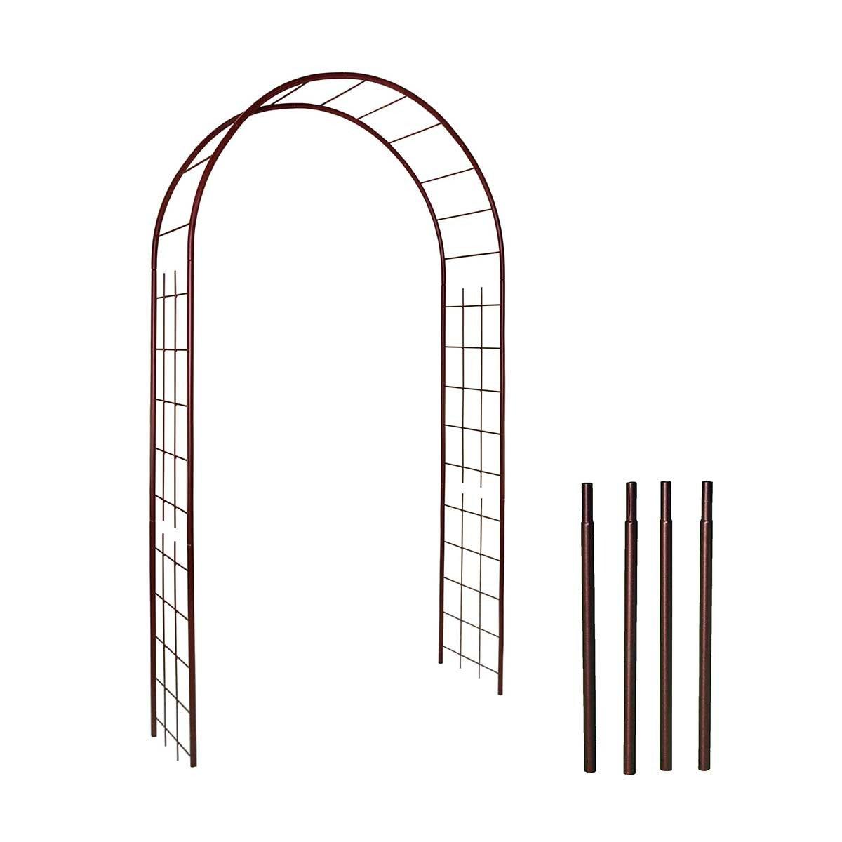 Arche De Jardin Treillage En Fer Petit Modèle + 4 Supports À ... intérieur Arche De Jardin En Fer