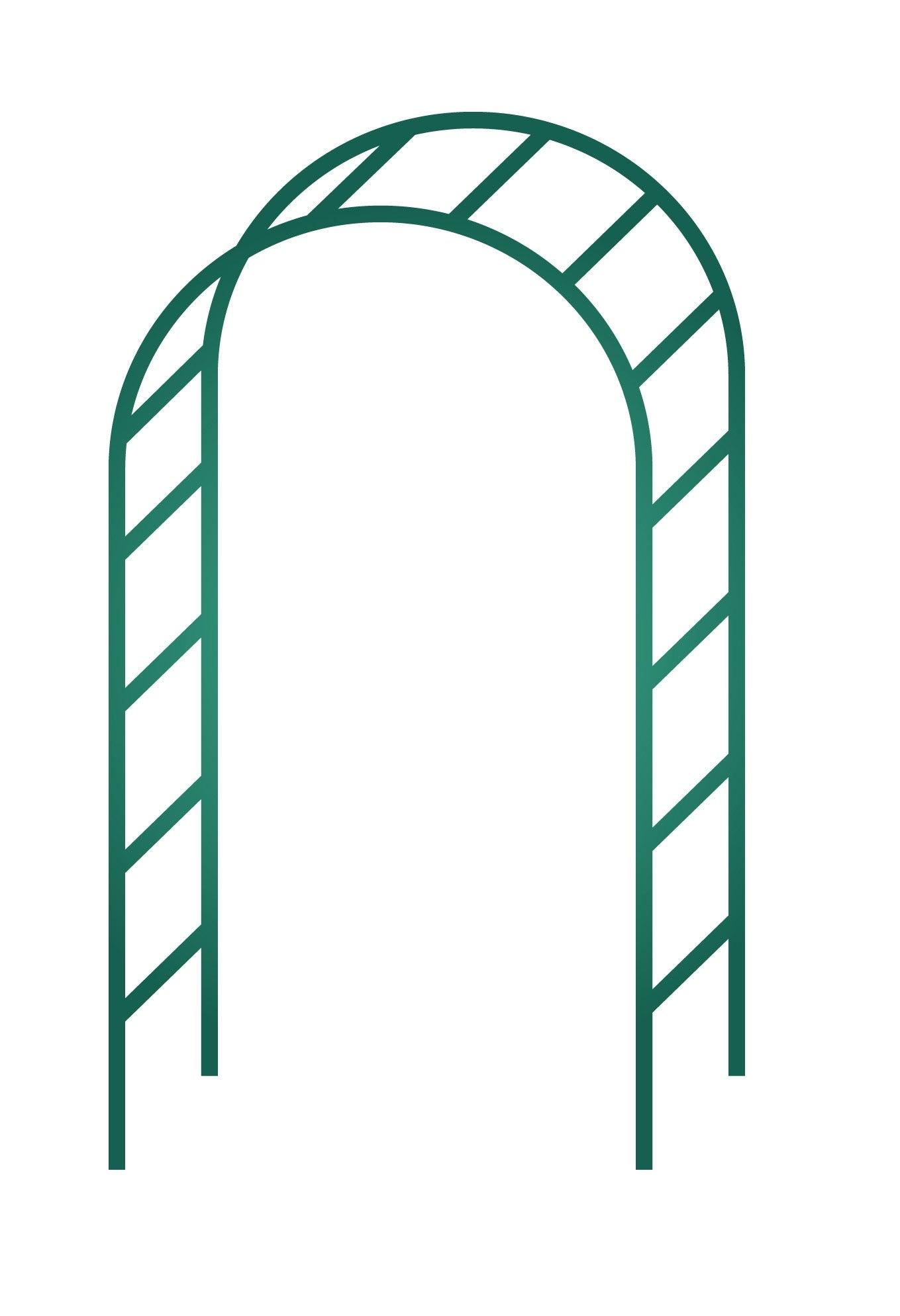 Arche Double Egt Garden L.140 X H.240 X P.40 Cm concernant Arche De Jardin En Fer