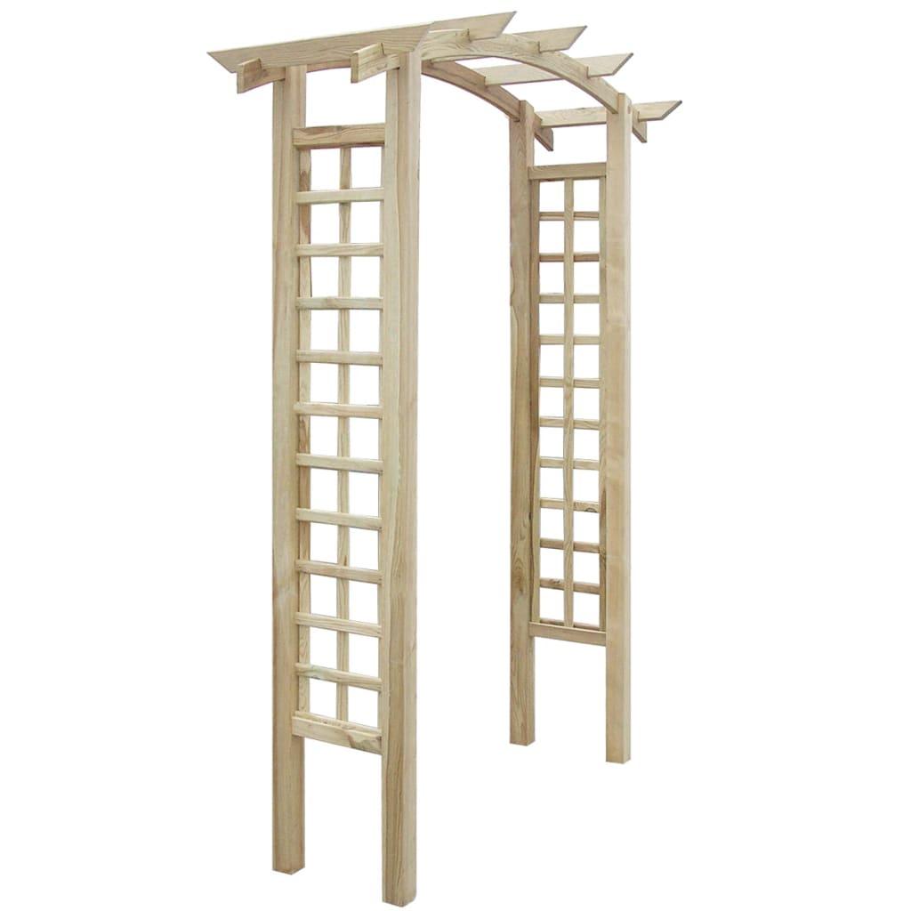 Arche En Treillis Pergola Extensible Abris 150 X 50 X 220 Cm ... intérieur Arche Bois Jardin