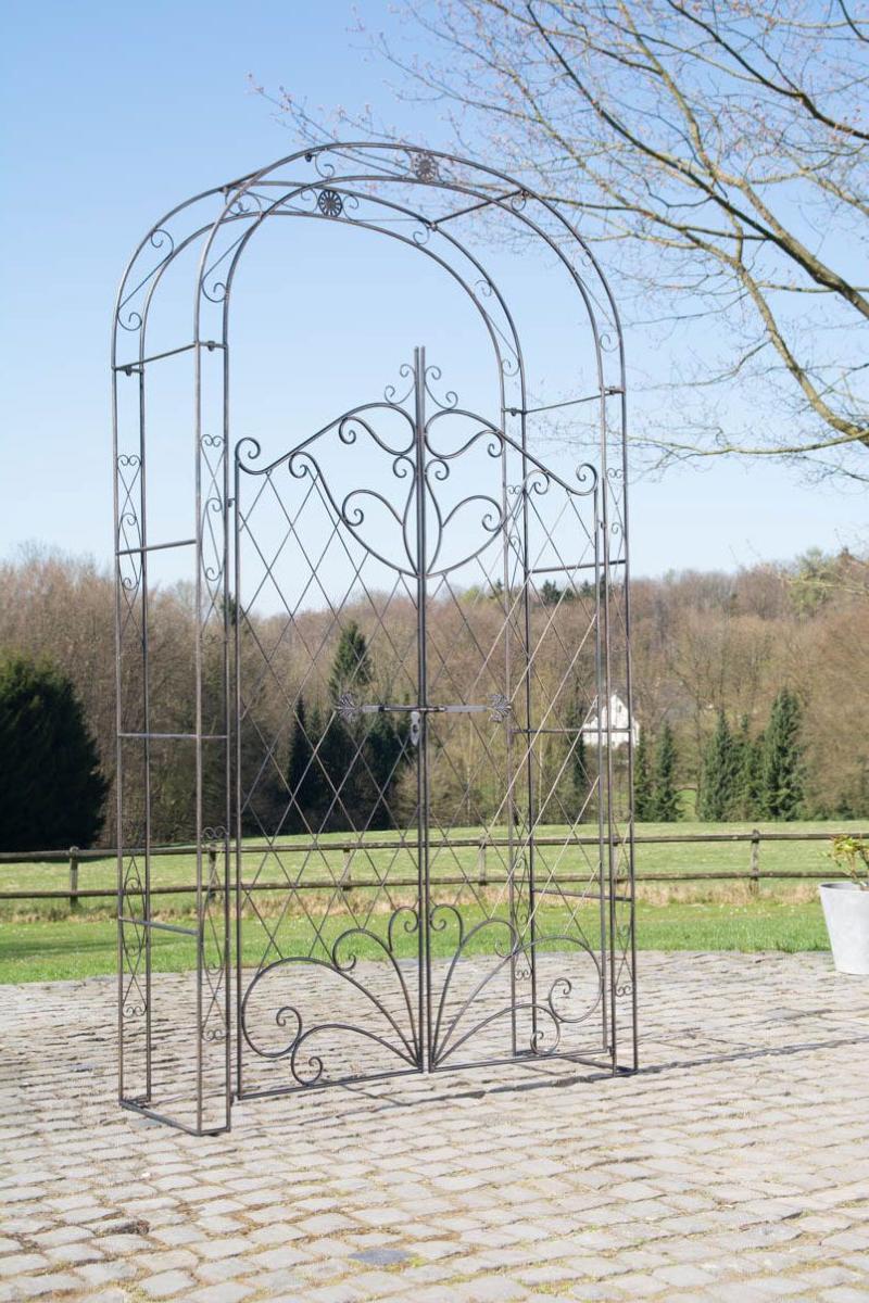 Arche Jardin Bronze Avec Portillon dedans Arche De Jardin En Fer Forgé
