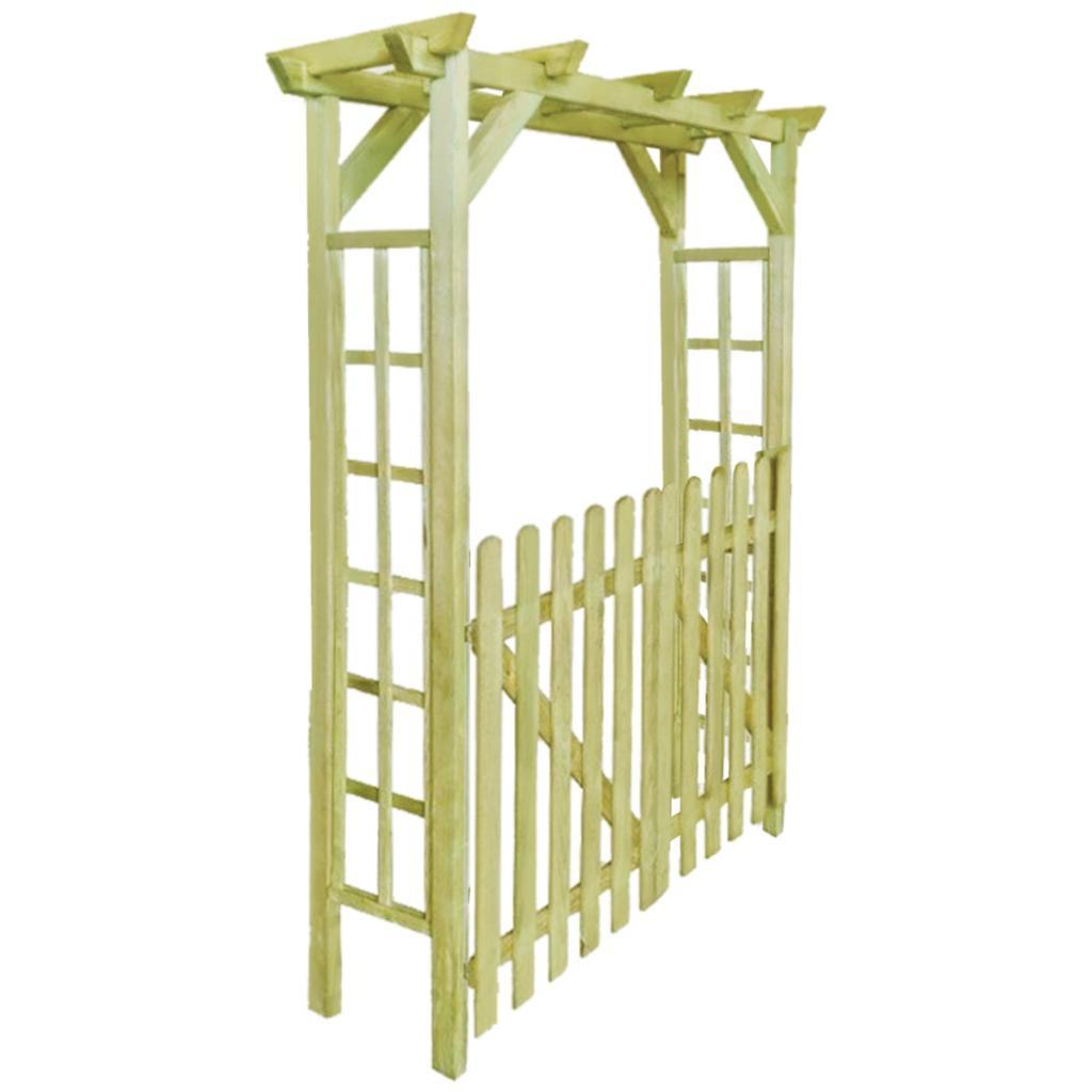 Arche Jardin En Bois + Portillon avec Portillon De Jardin En Bois