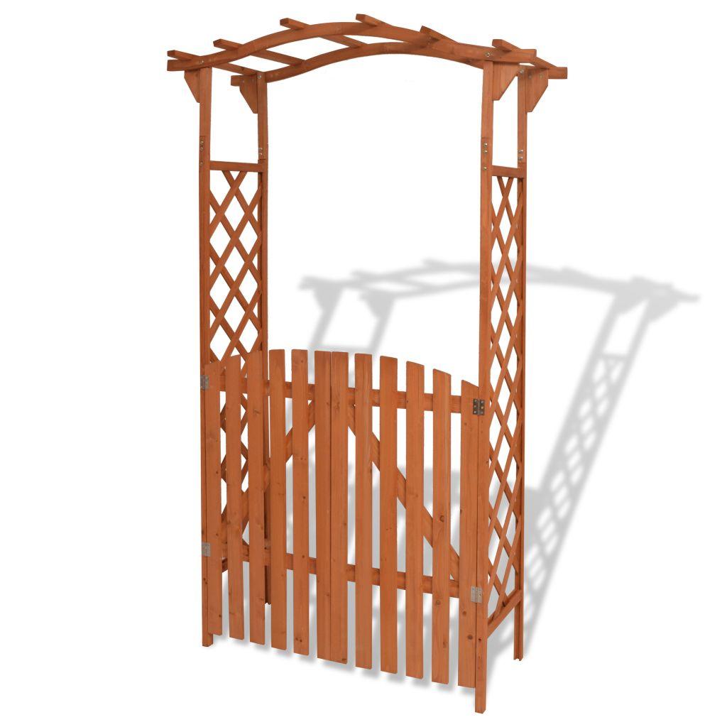 Arche Pour Jardin Avec Portique Bois Massif 120 X 60 X 205 ... pour Arche Pour Jardin