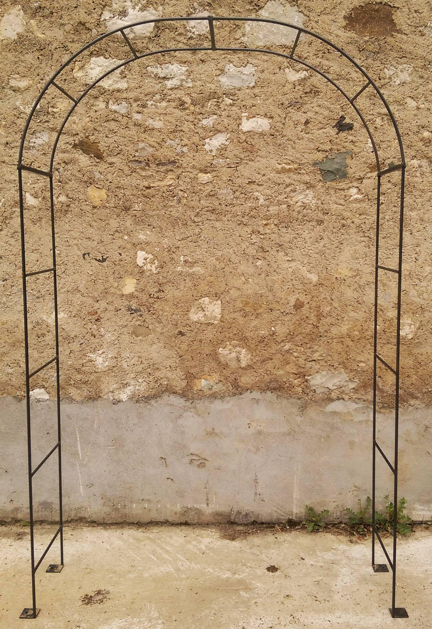 Arche Simple Arche À Fleurs Rosiers Tuteur Plantes De Jardin ... destiné Arche En Fer Forgé Pour Jardin