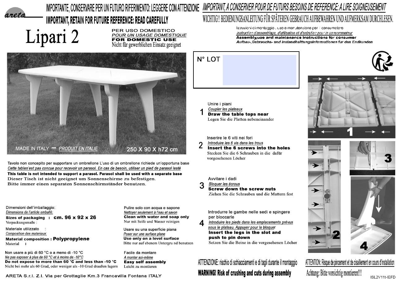 Areta Table De Jardin Extensible 180/250X90X72Cm Résine Gris Anthracite  Lipari 2 pour Table De Jardin Auchan