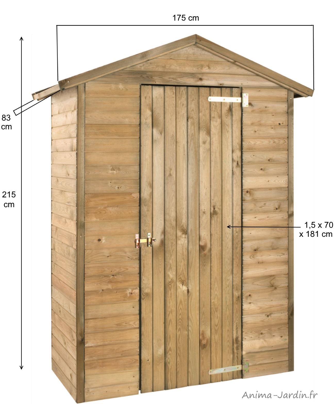 Armoire De Rangement, Bois Autoclave, 0,98 M², Petit Abri De ... destiné Armoire De Jardin Pas Cher