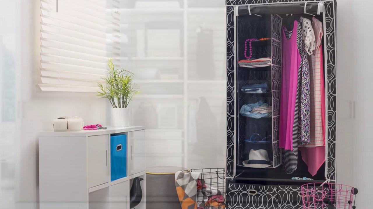 Armoire Penderie Tissu Sur Roulettes - intérieur Armoire De Jardin Ikea